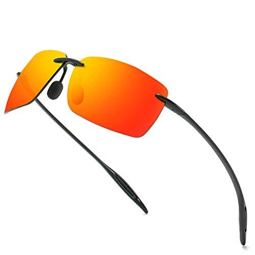 VBNM Gafas de Sol polarizadas Deportivas Unisex, Montura TR90, protección UV400, antideslumbrante, Lentes polarizadas TAC, de Alta definición, Gafas de Seguridad, Multicolor Opcional