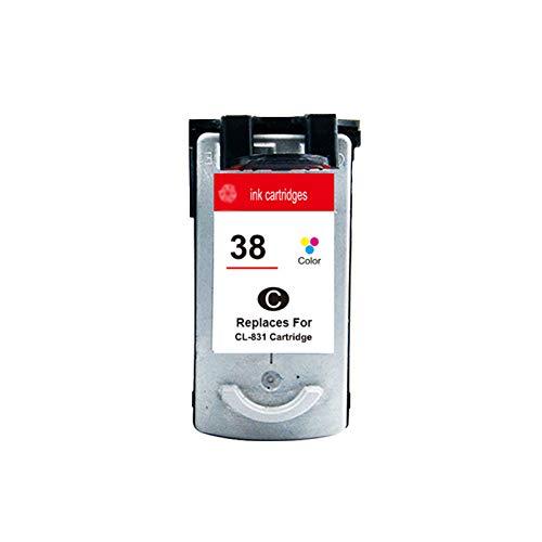 DYYPPWW Compatible 37XL 38XL Cartucho de Tinta, Alto Volumen de Impresión Reemplazo,para Canon 210 220 300 Impresora Negro,Color