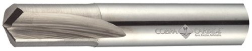 Cobra Carbide 32256 Micro Grain Solid Carbide Jobber Drill Bit, Uncoated (Bright) Finish, Round Shank, Straight Flute, 140 Degrees Special Point, #20 Size, 2-1/8' Length (Pack of 1)
