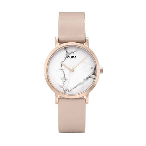 Cluse Damen Analog Quarz Uhr mit Leder Armband CL40109
