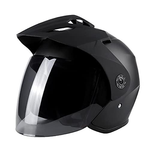 QHF Casco de Motociclista con Visera abatible Aprobado por Dot Ajustable Dual Sport Off Road Motocicleta Dirt Bike ATV (57-62CM)