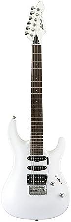 Aria MACBL - Guitarra, color blanco Metalizado