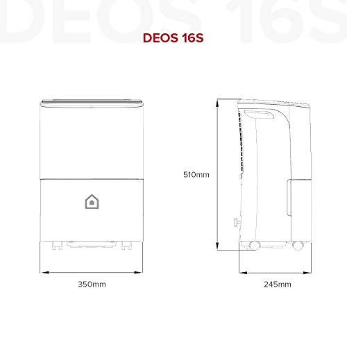 Ariston Deos 16s Wi Fi Deumidificatore Portatile, 312W, 16 Litri/Giorno, Bianco