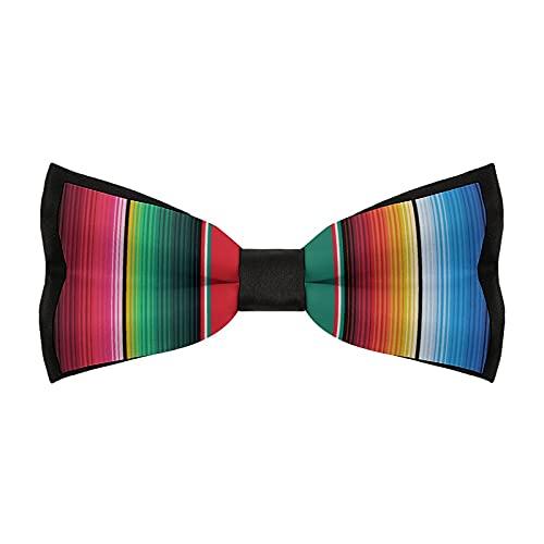 Pajaritas preatadas para hombre, ajustable, elegante, para bodas, fiestas, accesorios de negocios, alfombra mexicana, rayas The Arts)