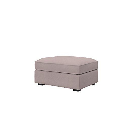 Soferia Funda de Repuesto para IKEA KIVIK reposapiés, Tela Eco Leather Taupe, Beige