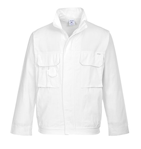 Portwest S827 - chaqueta pintores, color Blanco, talla Medium