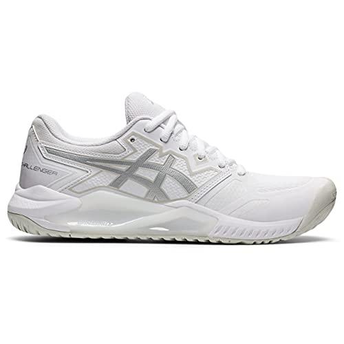 ASICS Gel-Challenger 13, Chaussures de Tennis. Femme, White Pure Silver, 42 EU
