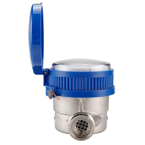 Angoily Medidor de Flujo de Agua Fría Inteligente Tipo Paleta Giratoria Medidor de Medición Accesorios para Uso Doméstico en El Jardín