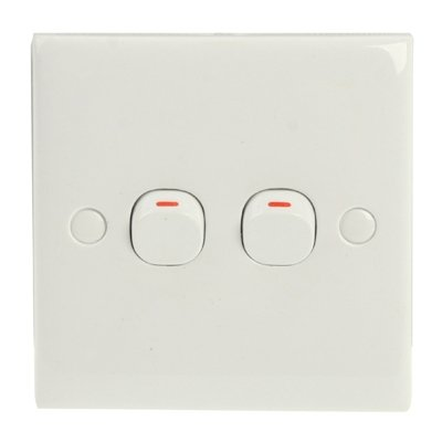 Interruptor de Pared Interruptor eléctrico (Tamaño: 86 x 86 mm), Monsteramy