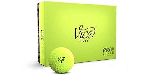 Bolas de golfe macias Vice Pro, limão (uma dúzia)