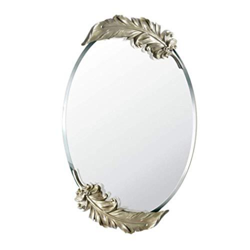 Household Necessities/veren rond wandspiegel tuin spiegel badkamerspiegel wandspiegel decoratie kaptafel uitnodiging beste cadeau 65X41CM Goud
