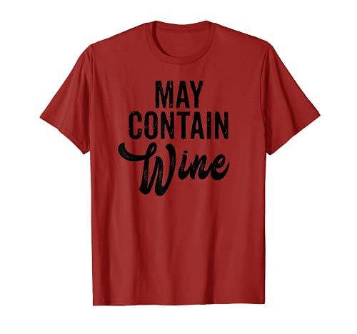 Regalos divertidos para el bebedor de vino El beber vino pue Camiseta