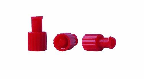 Kombistopfen 100 Stück steril rot Kombi-Verschlussstopfen Einmalspritzen Stopfen Verschlußstopfen Luer Lock steril