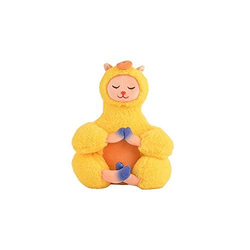 Stuffed Toy Cartoon Animal Alpaca Plush Doll, Buddha Series Little Alpaca Doll, New Year Gift, Birthday Gift for Children