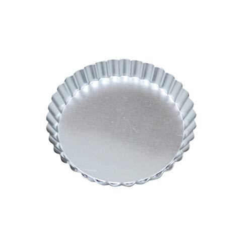 4/6/8 pouce rond en alliage d'aluminium plaque à pizza plat à tarte plaque de cuisson plateau de cuisson four de cuisson outils de cuisson moule de gâteau (Color : Silver, Taille : 4 inches)