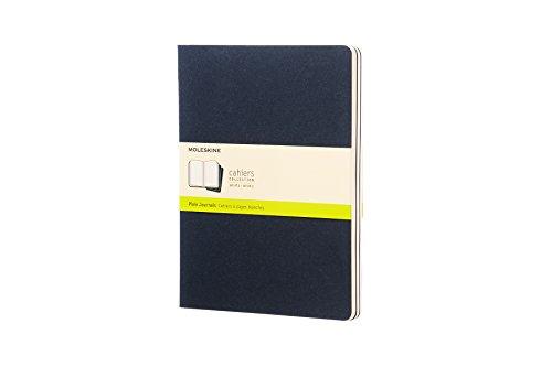 Moleskine CH223 - Set de 3 cuadernos, XL 19 x 25, color azul, 3 Unidades