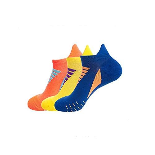 3 pares Maratón deportes calcetines hombres mujeres engrosados desodorante élite baloncesto calcetines corriendo toalla inferior calcetines cortos tubo color4