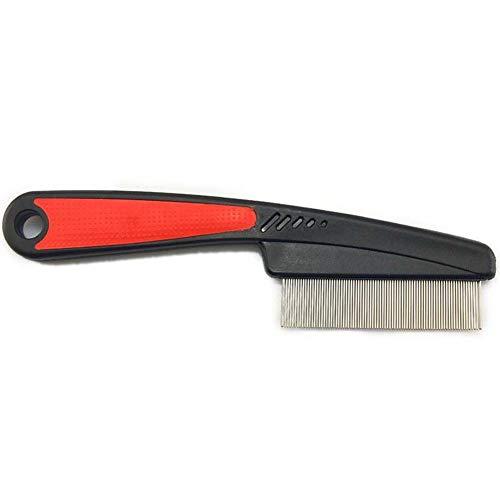 Keneke Flohkamm mit dicker Nadel, zum Entfernen von Flöhen für Hunde und Katzen, langes Haar, einfacher Griff, 10 Stück