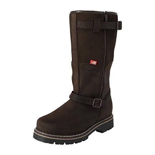 KREXUS 11W - Herren - Leder Thermostiefel - Jagdstiefel - Winterschuhe - Winterstiefel - Boots - Wanderschuh (Braun, 46, XH1311-46)