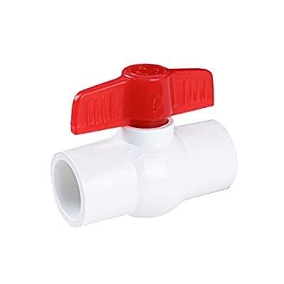FangKingNo White 1in PVC Ball Valve Water PVC Pipe Fitting Coupling Adapter Water Pipe irrigation Pipe fitting system shut-off valve Socket Water Treatment(1 inch) from FangKingNo