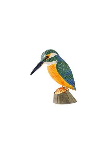 Wildlife Garden Dekovogel Holzvogel - Eisvogel - Handgeschnitzt