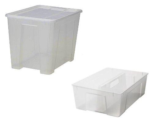 IKEA SAMLA - Caja de 22 L con tapa