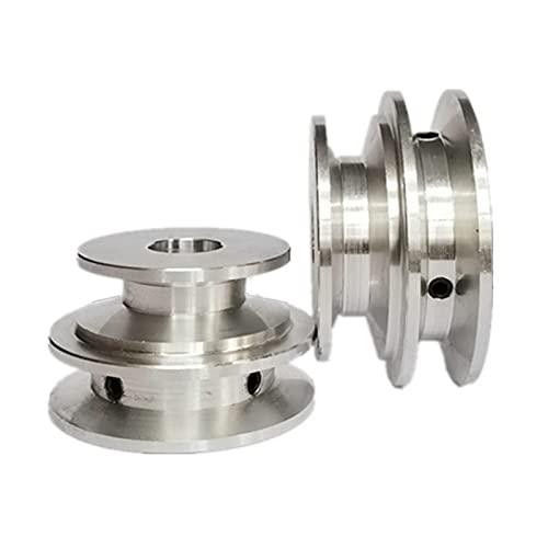 Puleggia a doppia scanalatura 50/60MM in lega di alluminio 8-20MM puleggia con foro fisso per albero motore (diametro foro 10mm)