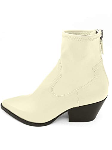 Dolce Vita Women's SHANTA Ankle Boot, OFF WHITE LEATHER, 6.5 M US