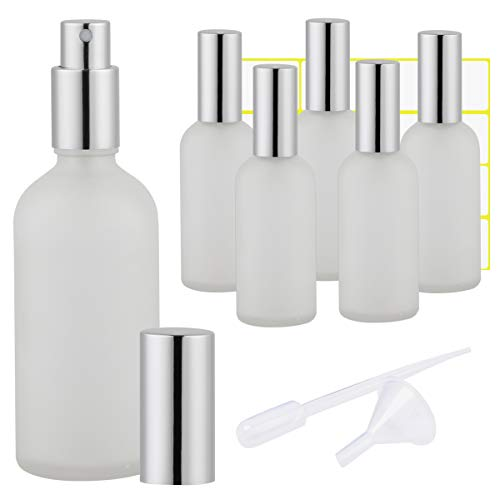 Frosted Clear Glass Spray Bottle