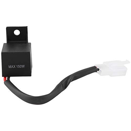 Changor Relé electrónico LED Flasher, 60-100 Veces/min Hecho de ABS 20 ℃ ± 2 ℃ 60~120 Veces por Minuto para Muchas Marcas. (Negro)