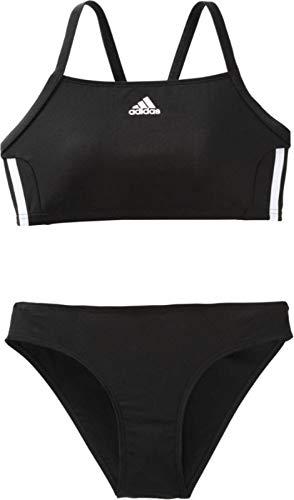 adidas Damen Infinitex Essence Core 3-Stripes Bikini Set, Black/White, 38