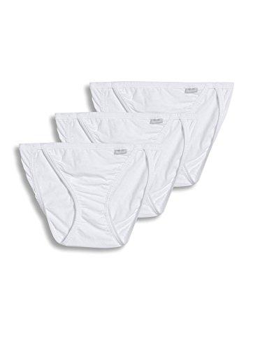 Jockey Women's Elance String Bikini 3-Pack, White/White/White, 7 (XL)