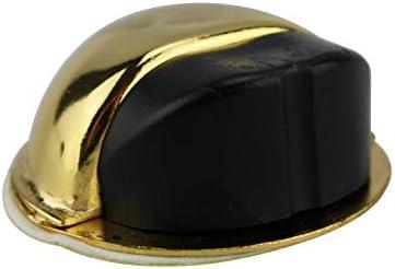 Türstopper Bodentürstopper Ausführung Gold gebürstet Gummi schwarz Türpuffer