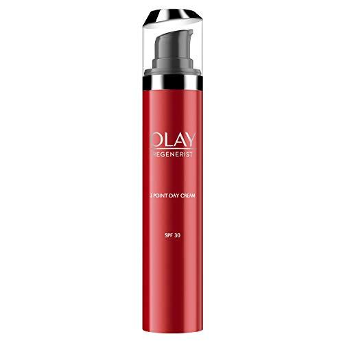 Olay Regenerist Hidratante con SPF30, Crema facial con protección solar, niacinamida y péptidos, 50 ml