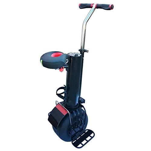 WANG XIN Monociclo eléctrico Scooter Autobalanceo Carga Inteligente Viaje Motocicleta de una Sola Rueda con un Asiento y Manillar Luces LED