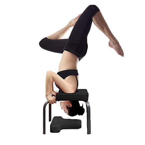 Yoga Handstand Bench Yoga Kopfstandhocker, Stand Yoga Stuhl für Familie, Stahlrohr und PU-Pads, Fitnessgeräte - lindern Sie Müdigkeit und Bauen Sie Körper auf, für Familien, Fitnessstudio (Schwarz)