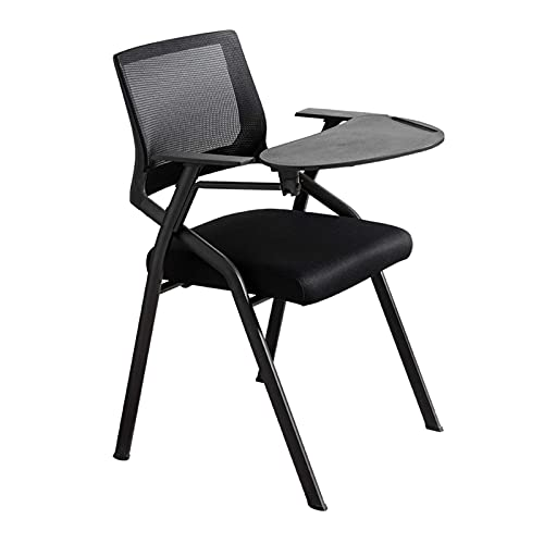 N&O Renovation House Folding Office Chair Ergonomic with Foldable Desk Platform Mesh Desk Chairs for Arms Padded Office Chairs Without Word Pad