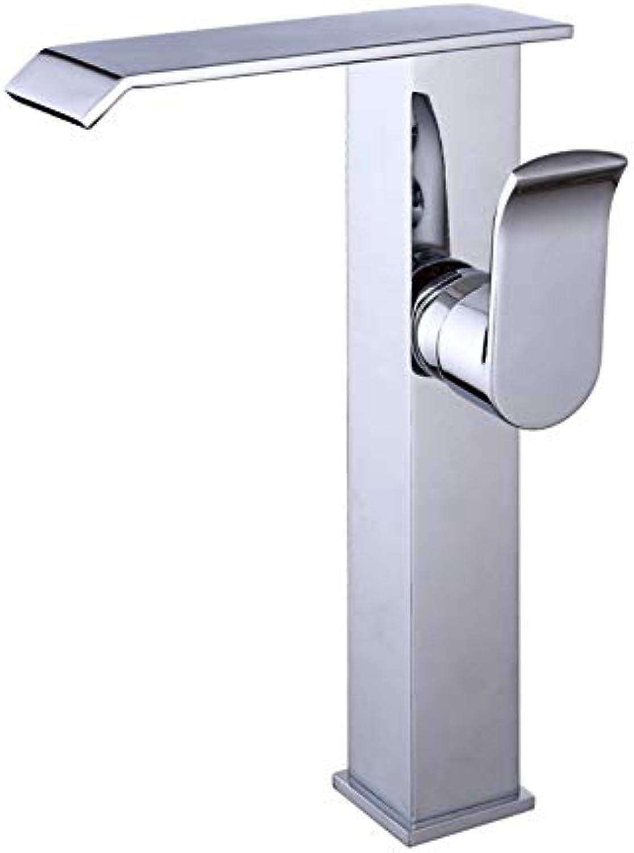HUIJIN1 Eingriff-Hochwasser-Badezimmer-Wasserhahn, weit verbreiteter Gefbehlter Mixer-Wasserhahn, Waschbecken Spülbecken Wasserhahn, Blei freies Soil-Messing