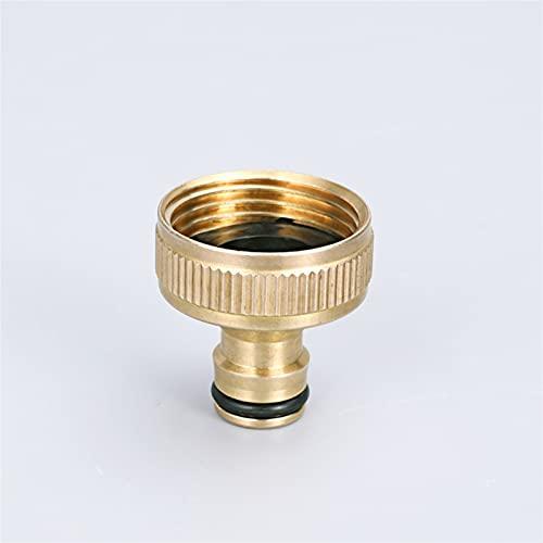 IOUVS Conector de Manguera de jardín de latón 3/4 '' y 1 '' Adaptador de Grifo roscado Femenino Femenino para el Patio de la casa/Lavadora Faucet de Agua de Hilo (Color : 2)