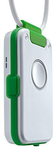 Hausnotruf/Notrufknopf ohne Vertrag mit Sturzmelder, Freisprechtelefon, Rauchalarm-Melder, für Senioren - Dosch&AmandDA1432 Pro (grün)