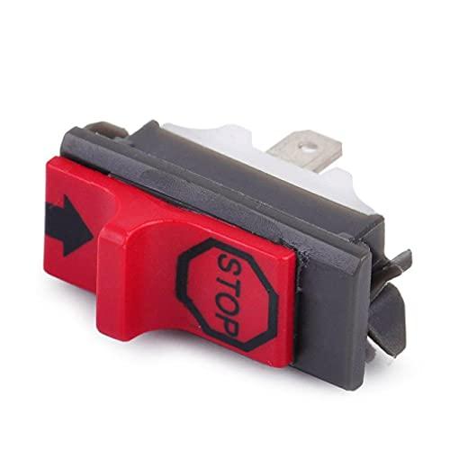 Accesorios de plástico y Metal jardín Accesorios de Sierra de Sierra de flameout Switch Switch Switch Accesorios Reemplazo de reemplazo/desactivado (Color : Red)