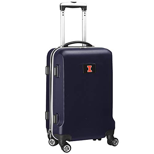 Denco NCAA Illinois Illini Carry-On Hardcase Luggage Spinner, Navy