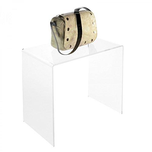 Avà srl Tavolino plexiglass Trasparente - Misure: 36 x 20 x H35 cm