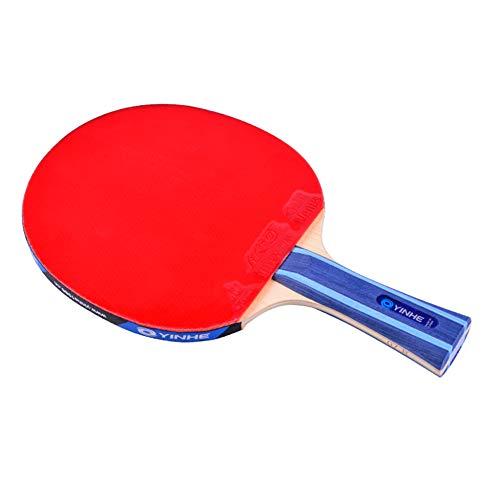 XGGYO 7 Estrellas Raquetas de Tenis de Mesa, Deporte Raquetas de Ping Pong, Adecuado para para Entrenadores, Aficionados, Expertos, Principiante/Como se muestra/Mango corto