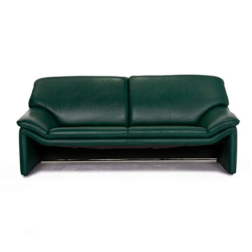 Laauser Atlanta Leder Sofa Grün Dunkelgrün Zweisitzer Couch #13813