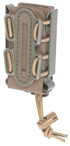 G-CODE (OD Green on Tan) Soft Shell Scorpion -Short- Pistol Mag Carrier with P2 Operator Belt Mount Clip 100% Made in The USA (1153-4B)