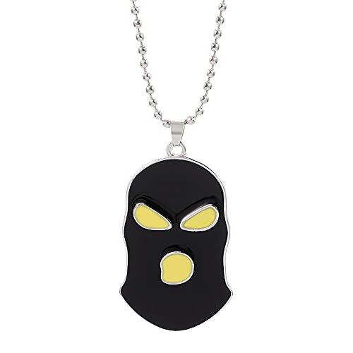 CSGO casco antiterrorista ladrones collar Rush B juego negro enmascarado tipo masculino joyería de acero inoxidable regalo para niño
