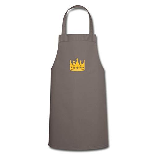 Spreadshirt König Der Küche Chefkoch Koch Kochschürze, Grau