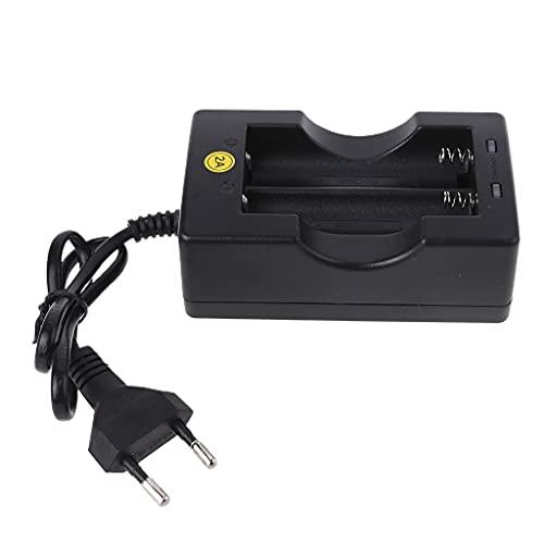 Frotox 2 baterías Recargables 18650 con Cargador de batería rápido Individual, Voltaje Global de 100-240 V