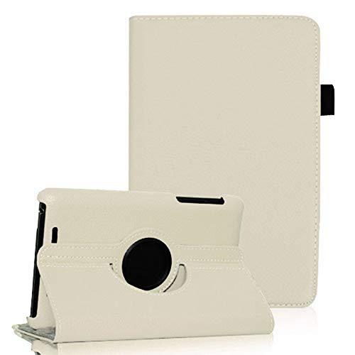COOVY® Cover für Google ASUS Google Nexus 7 (1. Generation Model 2012) Rotation 360° Smart Hülle Tasche Etui Case Schutz Ständer Auto Sleep/Wake up | weiß